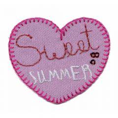 Applikation Herz sweet summer - 5 Stück