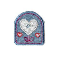 Applikation Jeans mit Herzchen - 5 Stück