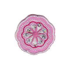 Applikation Blume rosa - 5 Stück