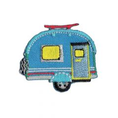 HKM Applikation Caravan 48x41mm blau - 5Stk