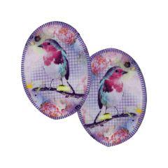 Opry Knie-Flicken zum Aufbügeln mit Vögeln - 5 Stück