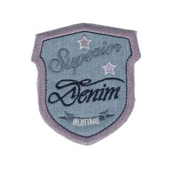 Applikation Wappen Superior Denim - 5 Stück