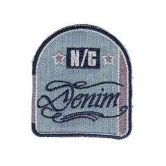 Applikation Wappen N-C Denim - 5 Stück