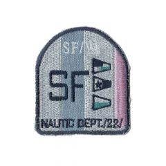 Applikation Wappen SF roza mit Lurex/rote Flaggen - 5 Stück