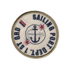 Applikation Sailing Port Button rot/blau/beige - 5 Stück