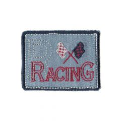 Applikation Racing blau - 5 Stück