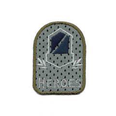Applikation Wappen heroes grau/blau - 5 Stück