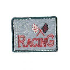 Applikation Racing grau - 5 Stück