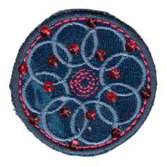 Applikation Blume aus Kreisen - 5 Stück