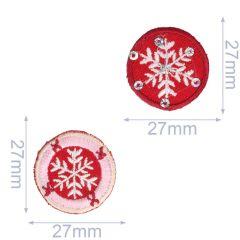 Applikationen Set Schneeflocke rot-rosa 2 Stück - 5 Sets