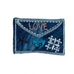 Applikation Umschlag love - 5 Stück