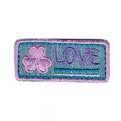Applikation Love lila-rosa - 5 Stück