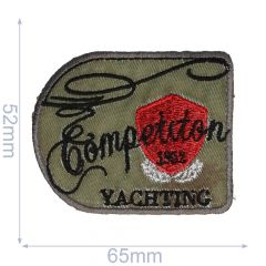 HKM Applikation Competition Yachting 65x52mm - 5Stk