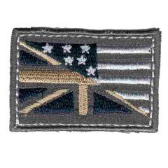 Applikation Flagge grau - 5 Stück
