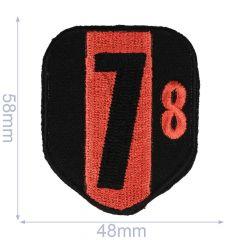HKM Applikation Wappen 78 48x58mm - 5Stk
