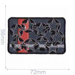 HKM Applikation Sterne auf Rechteck 56x72mm - 5Stk