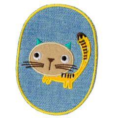 Knie-/Ellenbogenflicken Jeans mit Katze - 5 Stück
