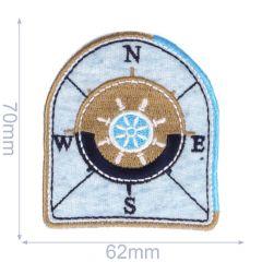 Applikation Wappen N-E-S-W - 5 Stück