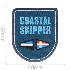 Applikation Coastal Skipper blau - 5 Stück