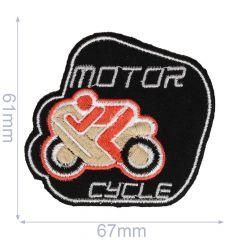 Applikation Motorcycle schwarz/grau - 5 Stück
