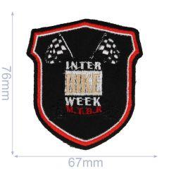 Applikation Wappen Interbike week schwarz - 5 Stück