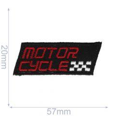 Applikation Motorcycle klein schwarz/grau - 5 Stück