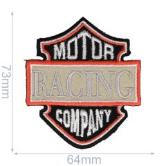 Applikation Motor Racing Company schwarz/grau - 5 Stück