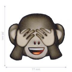 HKM Applikation Emoji Affe - 5Stk