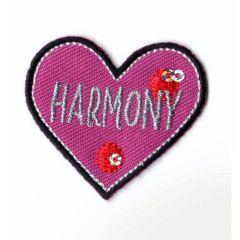 Applikation Herz HARMONY - 5 Stück