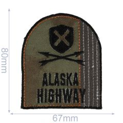 HKM Applikation Alaska Highway 67x80mm - 5Stk