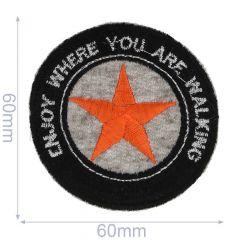 HKM Applikation Enjoy Where You Are Walking 60x60mm - 5Stk