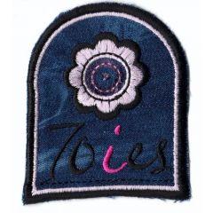 Applikation Wappen dunkel Jeans 70ies - 5 Stück