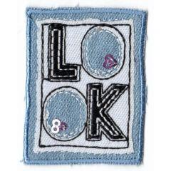 Applikation Viereck LOOK helle/dunkel Jeans - 5 Stück