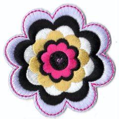 Applikation Blume - 5 Stück