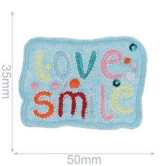 Applikation Love Smile - 5 Stück