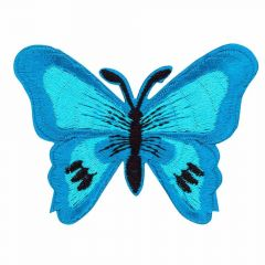 Applikation Schmetterling blau - 5 Stück