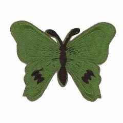 Applikation Schmetterling dunkelgrün - 5 Stück