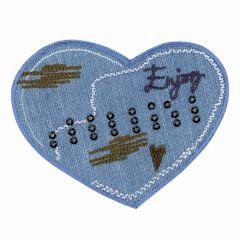 Applikation Herz ENJOY Jeans - 5 Stück
