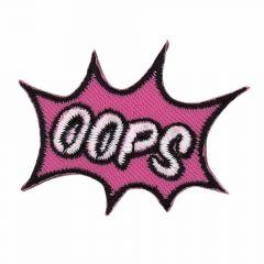Applikation OOPS rosa - 5 Stück