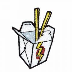 Applikation Asia Snack-Box weiß - 5 Stück