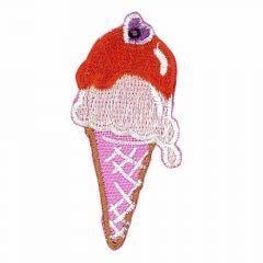 Applikation Eis klein rosa - 5 Stück