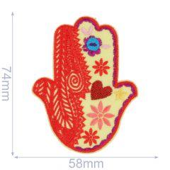 Applikation Hand von Fatima orange - 5 Stück