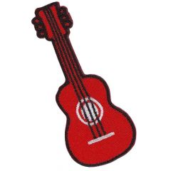 Applikation Gitarre rot - 5 Stück