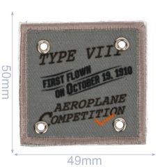 Applikation Aeroplane Competition grau - 5 Stück
