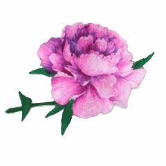Applikation Rose rosa-lila - 5 Stück
