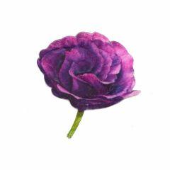 Applikation Rose lila - 5 Stück