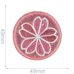 HKM Applikation Blume im Kreis - 5Stk