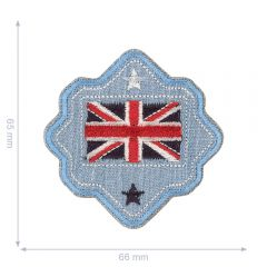 HKM Applikation Australien Flagge Button - 5Stk