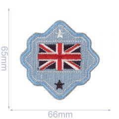 HKM Applikation Australien Flagge Button - 5Stk