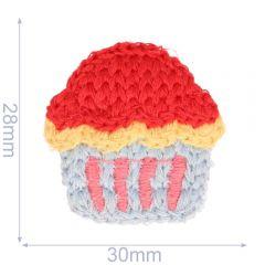 Applikation Cupcake gestrickt 30x28mm - 5Stk